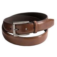 Reward Glazed Feather Edge Belt - Full-Grain Leather (For Men) in Tan - Closeouts