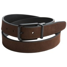 Reward Reversible Belt - Suede (For Men) in Chocolate/Black - Closeouts