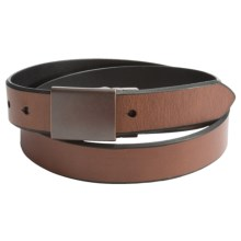Reward Reversible Plaque Belt (For Men) in Brown/Black - Closeouts