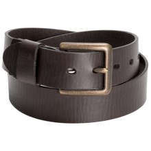Reward Smooth Calfskin Belt - Antique Buckle (For Men) in Brown - Closeouts