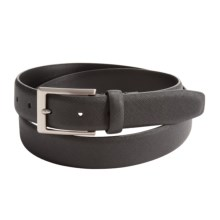 Reward Textured Leather Belt (For Men) in Black - Closeouts
