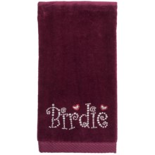 Rhinestone Golf Cotton Velour Towel (For Women) in Burgandy/Birdie - Closeouts