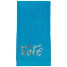 Rhinestone Golf Cotton Velour Towel (For Women) in Turquoise/Fore - Closeouts