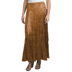 "Rhonda Stark 36"" Satin Skirt (For Women) in Champagne"