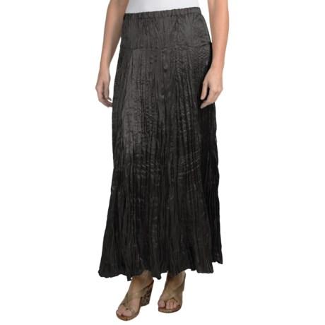 """Rhonda Stark 36"""" Satin Skirt (For Women) in Black"""