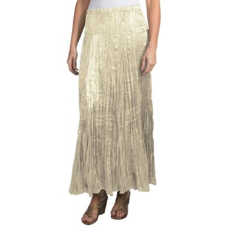 """Rhonda Stark 36"""" Satin Skirt (For Women) in Pearl"""