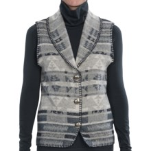 Rhonda Stark Shawl Collar Vest (For Women) in Indigo Valley - Closeouts