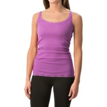 Rib-Knit Lace-Trim Tank Top (For Women) in Lavender - 2nds
