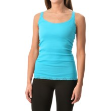 Rib-Knit Lace-Trim Tank Top (For Women) in Light Blue - 2nds