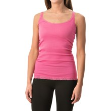Rib-Knit Lace-Trim Tank Top (For Women) in Light Pink - 2nds