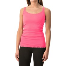 Rib-Knit Lace-Trim Tank Top (For Women) in Pink - 2nds