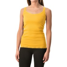 Rib-Knit Lace-Trim Tank Top (For Women) in Sunshine - 2nds