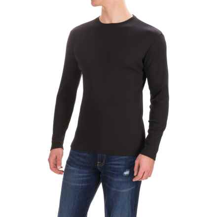 Rib-Knit Shirt - Long Sleeve (For Men) in Black - 2nds