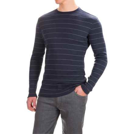 Rib-Knit Shirt - Long Sleeve (For Men) in Mid Indigo Stripe - 2nds