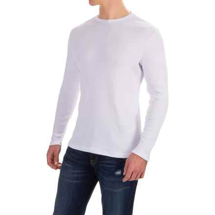 Rib-Knit Shirt - Long Sleeve (For Men) in White - 2nds