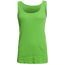 Ribbed Cotton Tank Top (For Women) in Green - 2nds