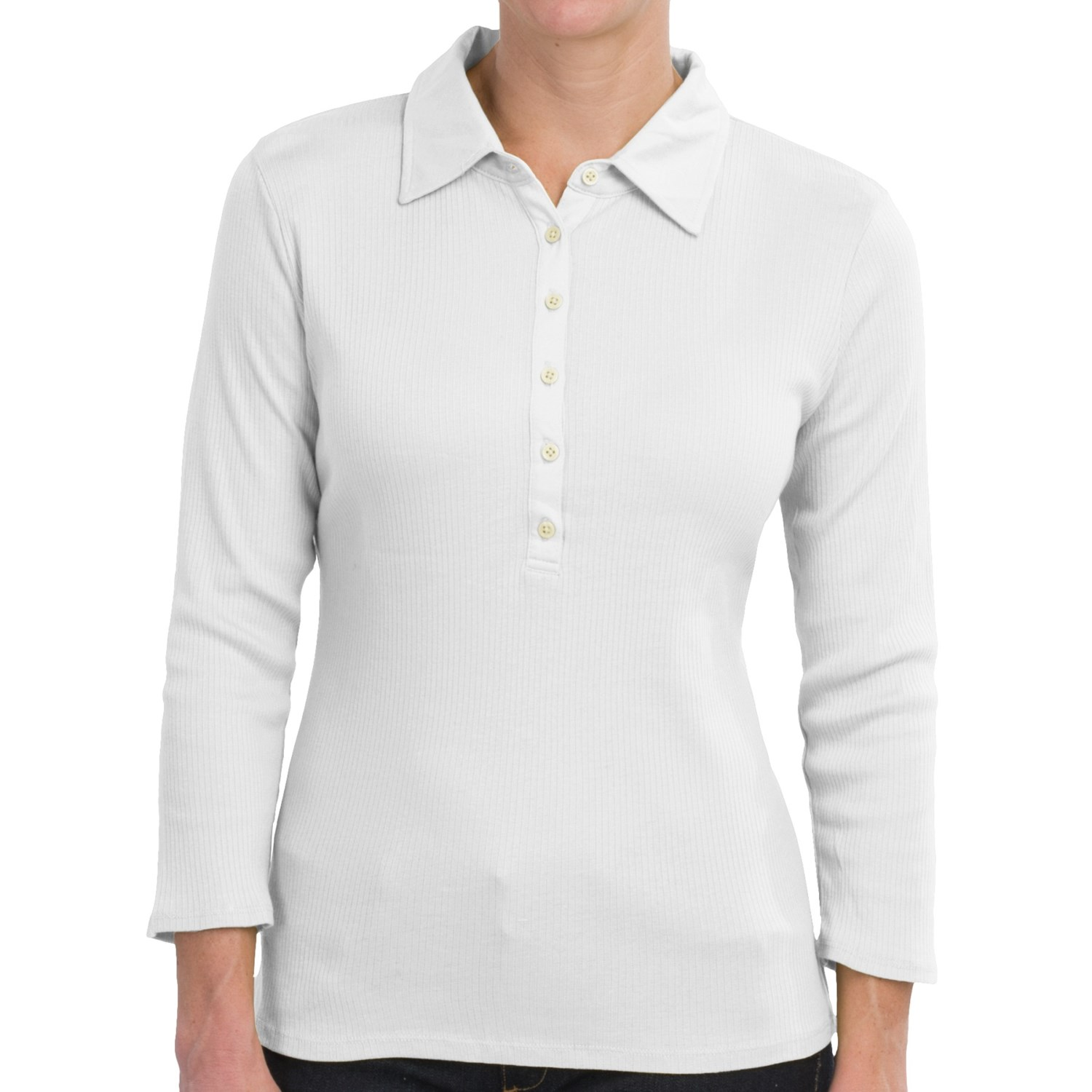 Ribbed knit henley shirt 3 4 sleeve for women save 76 for 3 4 henley shirt