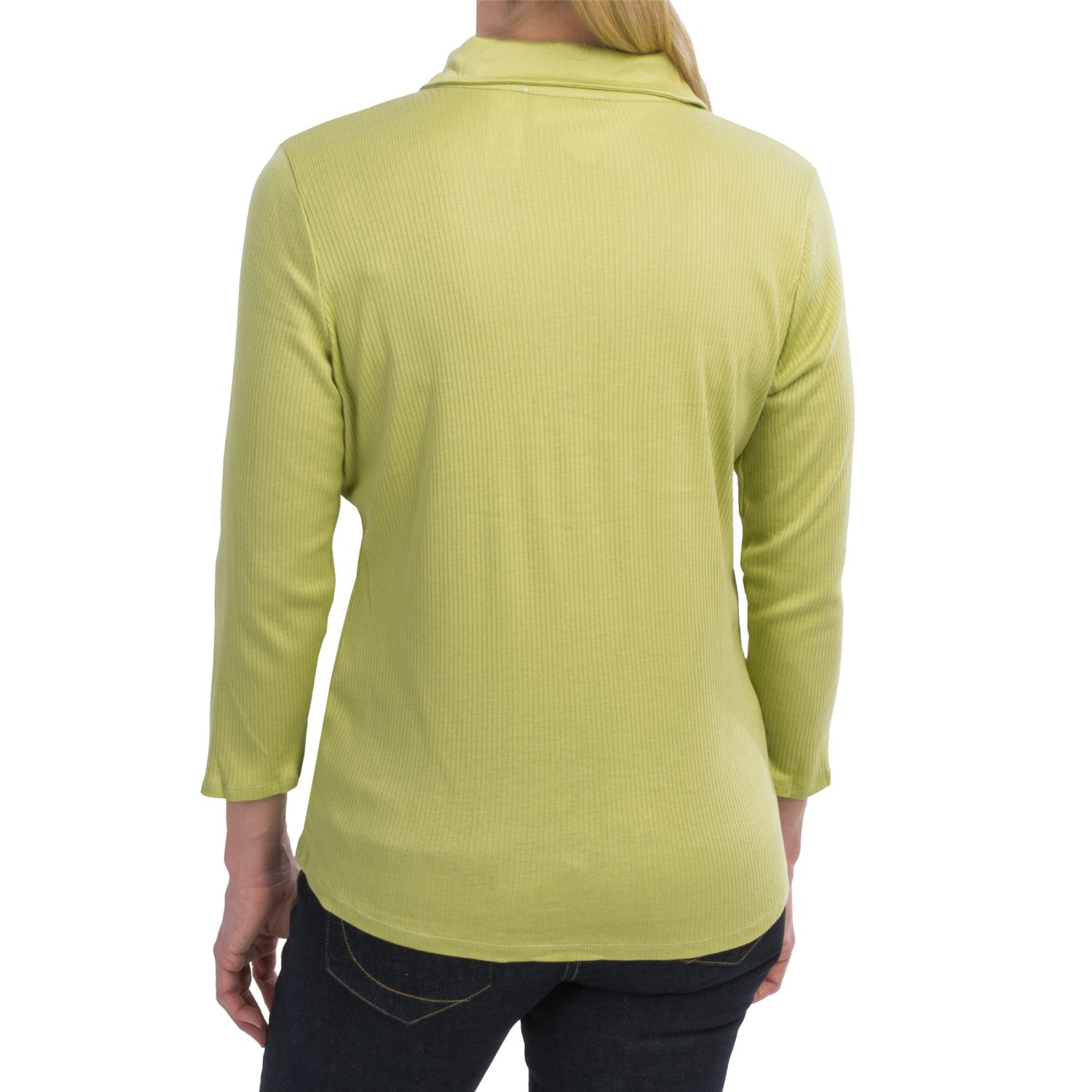Ribbed knit henley shirt for women 8351k save 76 for 3 4 henley shirt