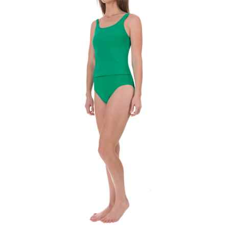 Ribbed Tankini Set (For Women) in Green - 2nds