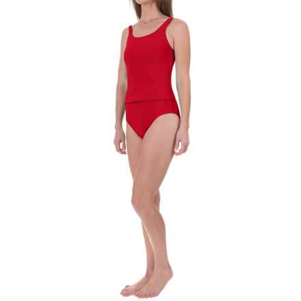Ribbed Tankini Set (For Women) in Red - 2nds