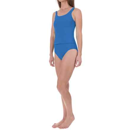 Ribbed Tankini Set (For Women) in Royal - 2nds