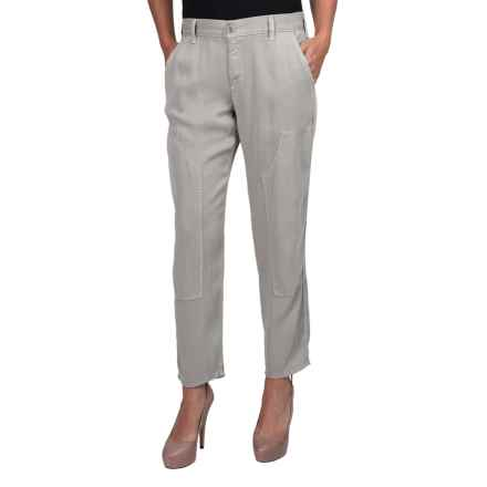 Rich & Skinny Dillon Utility Crop Pants (For Women) in Light Grey - Closeouts