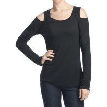 Rich & Skinny Iris Shirt - Cutout Shoulders, Long Sleeve (For Women) in Black - Closeouts