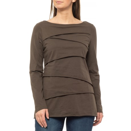 Rich Wood Beijing Layered T-Shirt - Long Sleeve (For Women) - RICH WOOD (M )