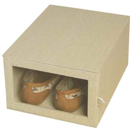 "Richards Homewares Arrow-Weave Shoe Organizer Box - 9x12x6"" in Drop - Closeouts"