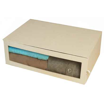 "Richards Homewares Arrow-Weave Sweater Organizer Box - 18x12x6"" in Drop - Closeouts"
