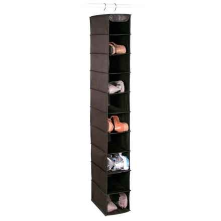 Richards Homewares Expressive Home Hanging Shoe and Accessory Organizer in Black - Closeouts