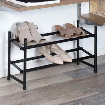 Richards Homewares Extendable Shoe Rack in Matte Black - Overstock