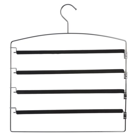 Richards Homewares Friction Swing Arm Pants Hanger in Black