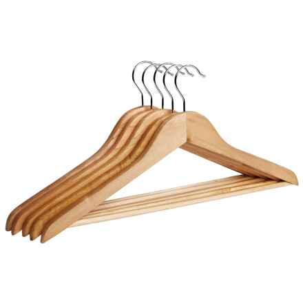 Richards Homewares Wooden Suit Hanger - Set of 5 in Natural - Closeouts
