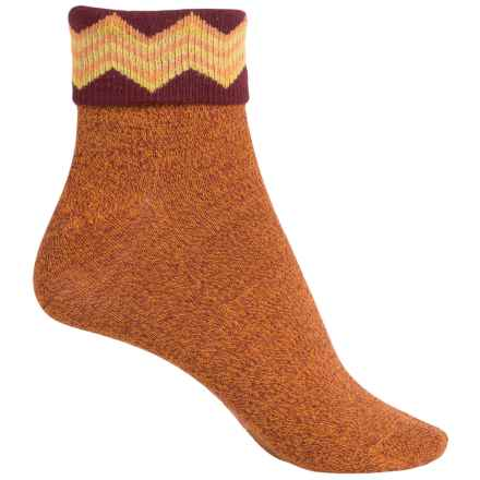 Richer Poorer Arrietty Fold-Over Socks - Ankle (For Women) in Mustard - Closeouts