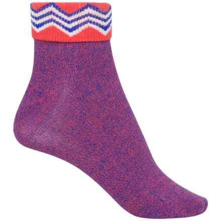 Richer Poorer Arrietty Fold-Over Socks - Ankle (For Women) in Red - Closeouts