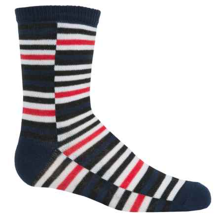Richer Poorer Atticus Socks - Crew (For Little and Big Boys) in Navy - Closeouts
