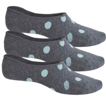 Richer Poorer Aves Socks - 3-Pack, Below the Ankle (For Women) in Grey/Teal - Closeouts
