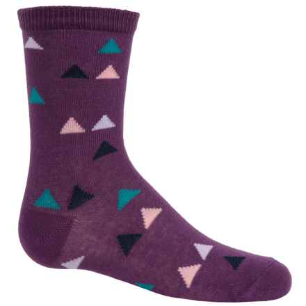 Richer Poorer Blume Socks - Crew (For Little and Big Girls) in Purple - Closeouts