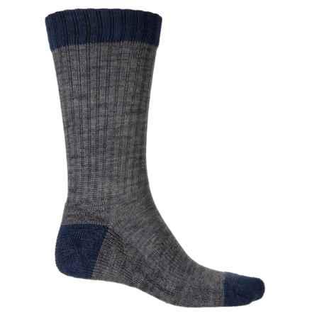 Richer Poorer Carter Socks - Merino Wool, Crew (For Men) in Navy - Closeouts