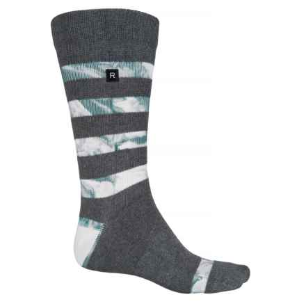Richer Poorer Cartwright Socks - Crew (For Men) in Charcoal/White - Closeouts