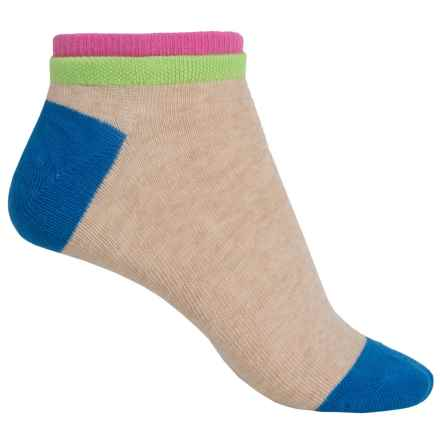 Richer Poorer Cassat Socks - Ankle (For Women) in Oatmeal/Pink - Closeouts