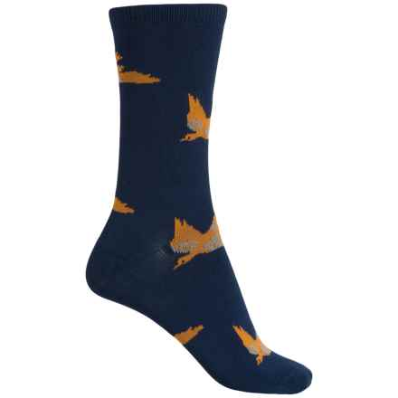Richer Poorer Doolittle Double Cylinder Socks - Crew (For Women) in Navy/Yellow - Closeouts