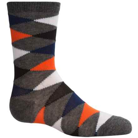 Richer Poorer Eaton Socks - Crew (For Little and Big Boys) in Charcoal - Closeouts