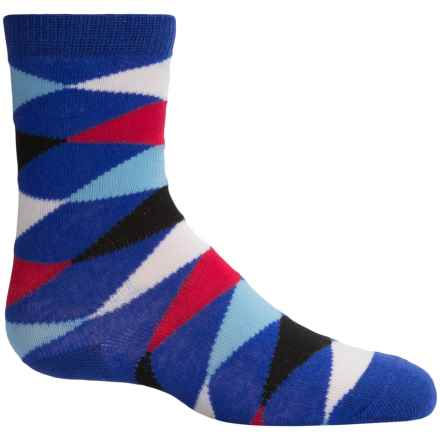 Richer Poorer Eaton Socks - Crew (For Little and Big Boys) in Navy - Closeouts