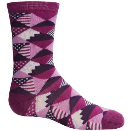Richer Poorer Ethel Socks - Crew (For Little and Big Girls) in Purple - Closeouts
