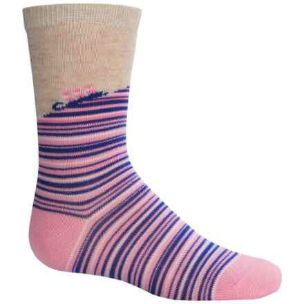Richer Poorer Ginsburg Socks - Crew (For Little and Big Girls) in Pink - Closeouts