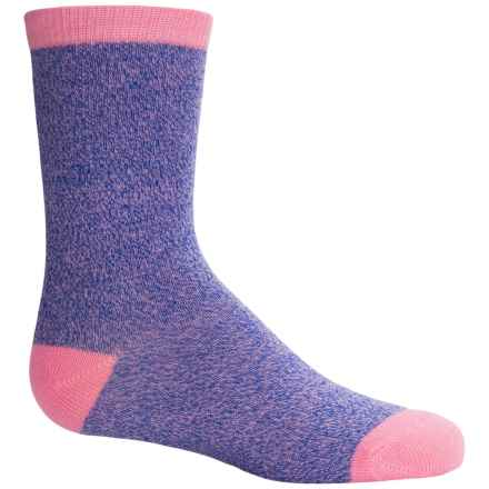 Richer Poorer Ivy Socks - Crew (For Little and Big Girls) in Pink - Closeouts