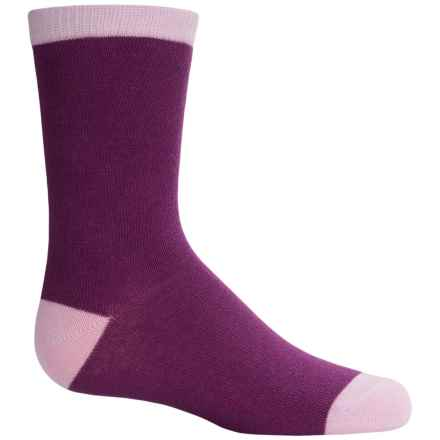 Richer Poorer Ivy Socks - Crew (For Little and Big Girls) in Purple - Closeouts