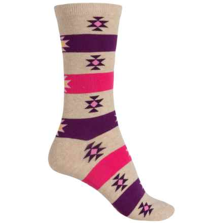 Richer Poorer Lucia Socks - Crew (For Women) in Oatmeal - Closeouts